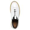 Dámské kožené tenisky na flatformě bata, bílá, 526-1645 - 26