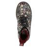 Dívčí obuv s květovaným vzorem bata-girl, černá, 321-6609 - 26