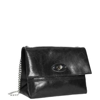 Dámská kožená kabelka bata, černá, 964-6239 - 13