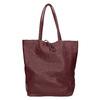 Vínová kožená Shopper kabelka bata, červená, 964-5522 - 26