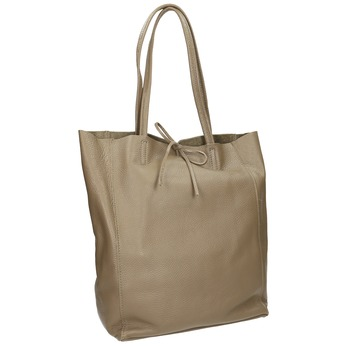 Dámská kožená kabelka s mašlí bata, béžová, 964-2122 - 13