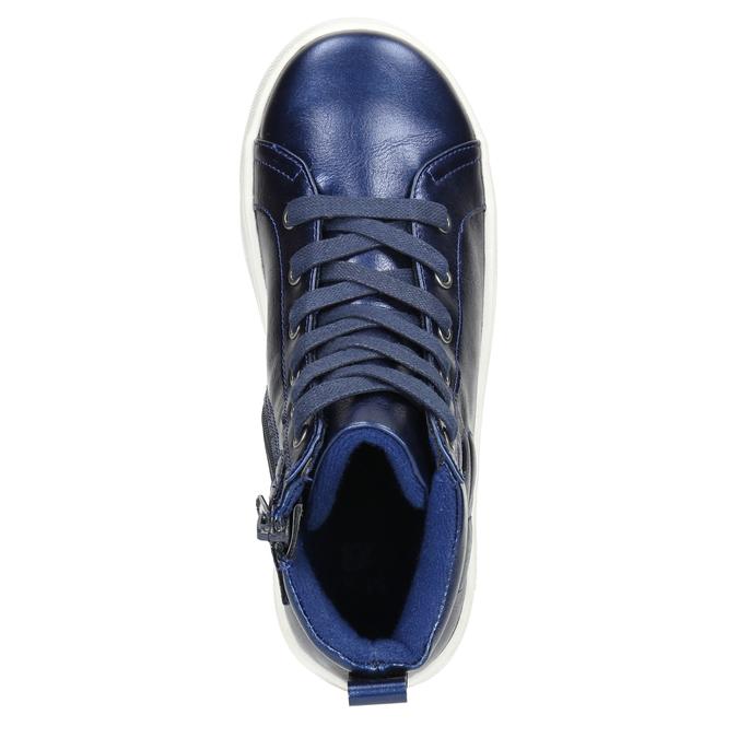 Modré dětské kotníčkové tenisky mini-b, modrá, 321-9610 - 26