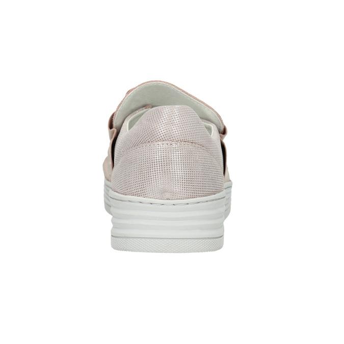 Kožené dámské Slip-on bata, růžová, 516-5614 - 17