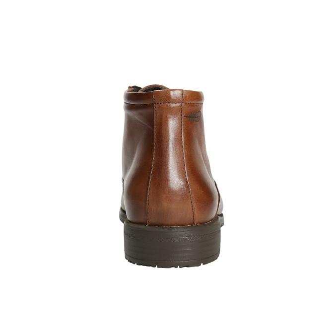 Kožená kotníčková obuv fluchos, hnědá, 826-3086 - 17