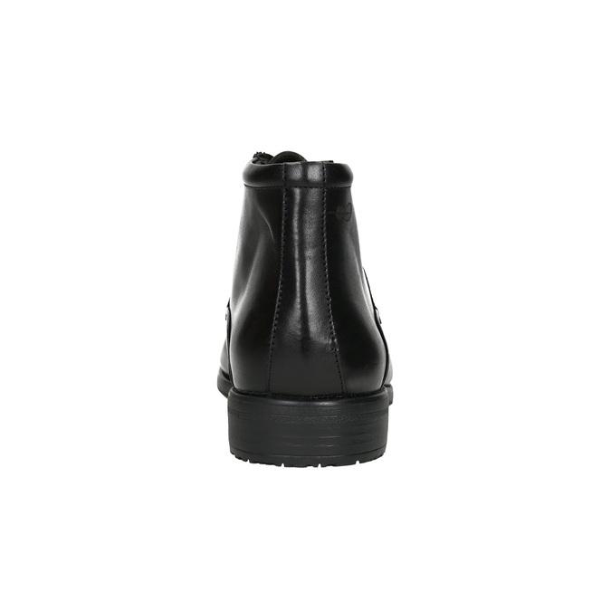Kožená kotníčková obuv fluchos, černá, 824-6069 - 17