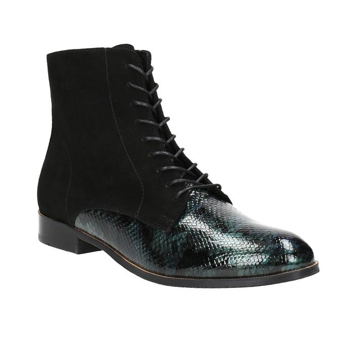 Šněrovací kožená obuv classico-and-bellezza, 526-0029 - 13