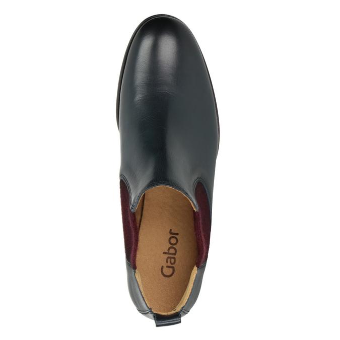 Kožené kotníčkové Chelsea Boots gabor, modrá, 516-4036 - 15