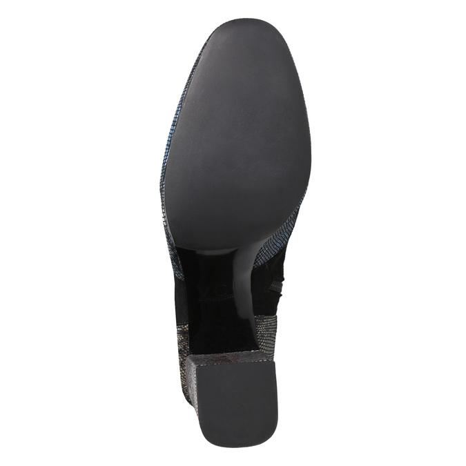 Dámské kozačky na stabilním podpatku classico-and-bellezza, černá, 796-6010 - 17