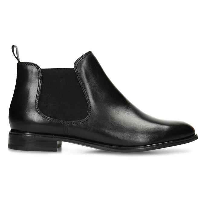 Černá kožená obuv v Chelsea stylu bata, černá, 594-6635 - 19