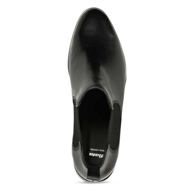 Černá kožená obuv v Chelsea stylu bata, černá, 594-6635 - 17