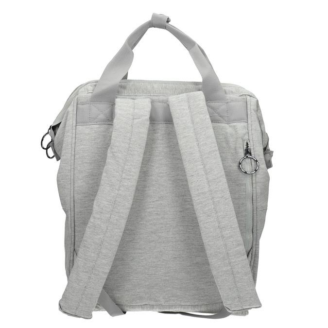 Šedý textilní batoh bjorn-borg, šedá, 969-2023 - 16