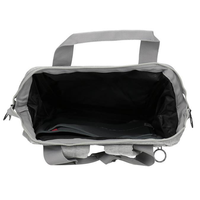 Šedý textilní batoh bjorn-borg, šedá, 969-2023 - 15