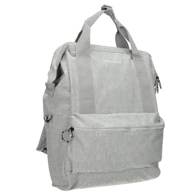 Šedý textilní batoh bjorn-borg, šedá, 969-2023 - 13