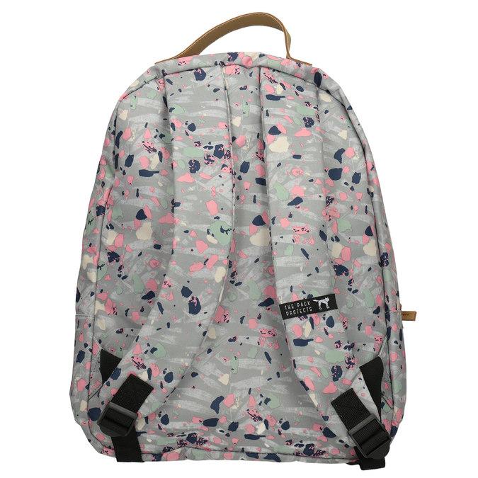 Batoh s barevným vzorem the-pack-society, šedá, 969-2085 - 16