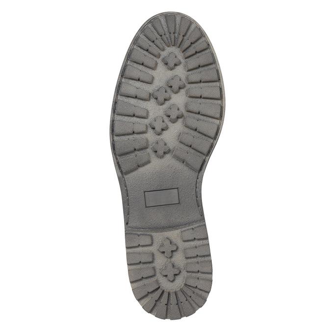 Pánské kožené polobotky bata, hnědá, 826-4619 - 26