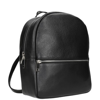 Kožený černý batoh bata, černá, 964-6240 - 13
