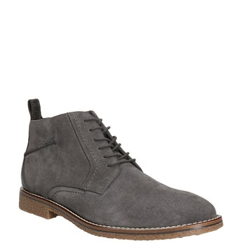 Kožená pánská kotníčková obuv bata, šedá, 823-2615 - 13