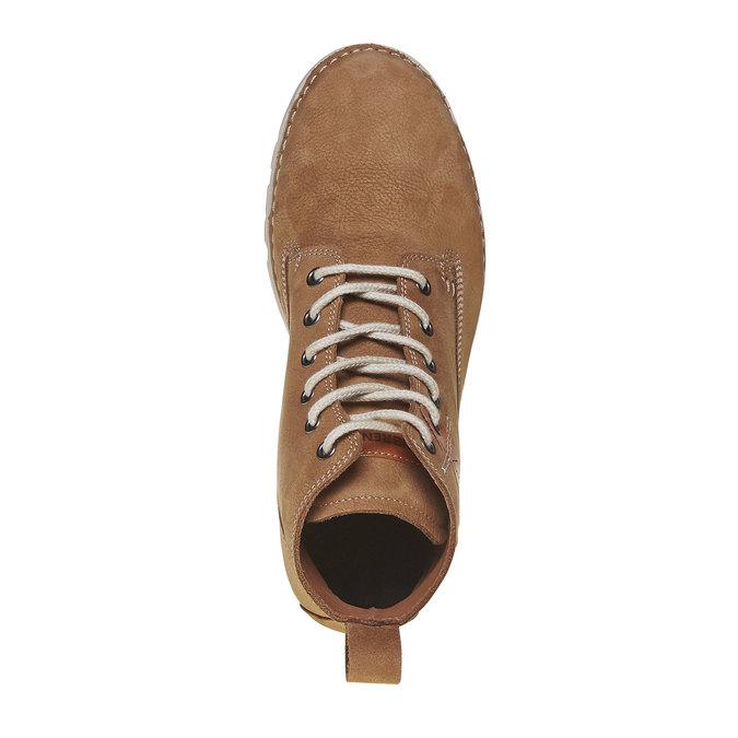 Dámská kožená kotníčková obuv weinbrenner, hnědá, 594-8323 - 19