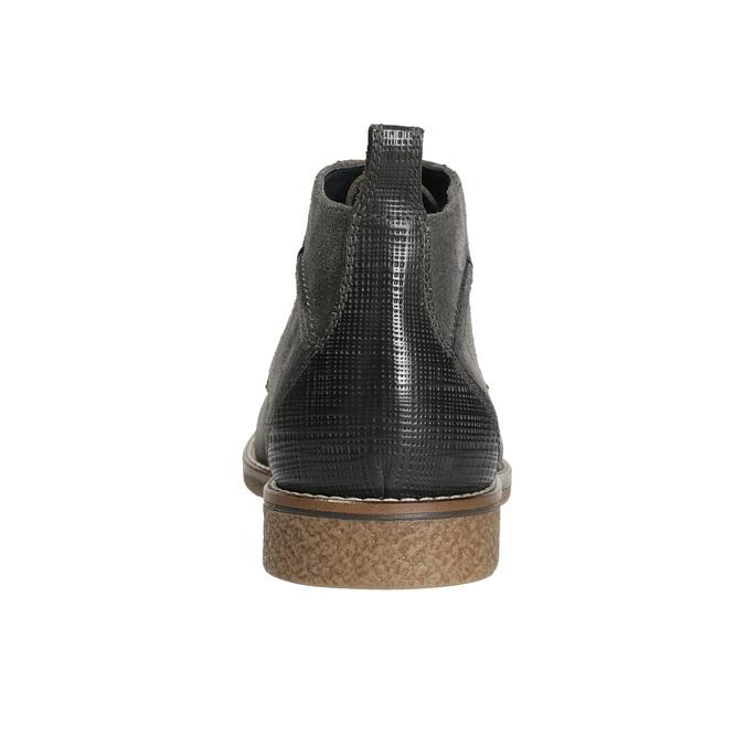 Kožená pánská kotníčková obuv bata, šedá, 823-2615 - 17