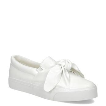Bílá dámská Slip-on obuv s mašlí north-star, bílá, 511-1606 - 13