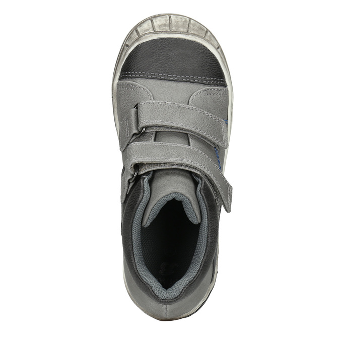 Kotníčková dětská obuv na suché zipy mini-b, šedá, 211-2624 - 26