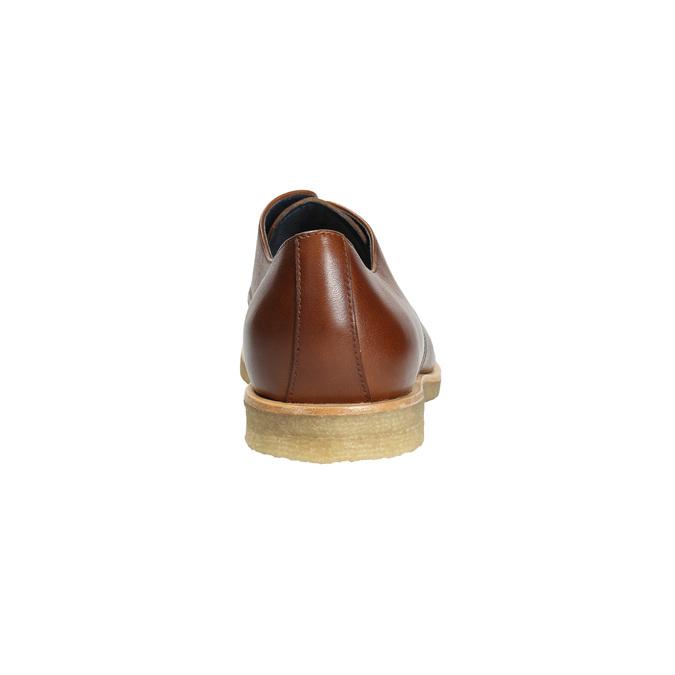 Kožené polobotky s ležérní podešví bata, hnědá, 826-3412 - 17