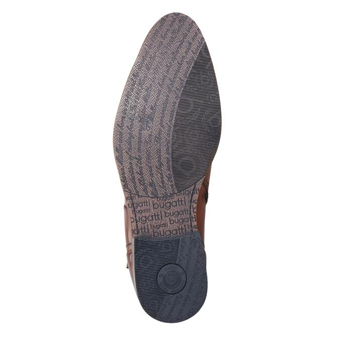 Kožená kotníčková obuv s přezkou bugatti, hnědá, 816-3043 - 17
