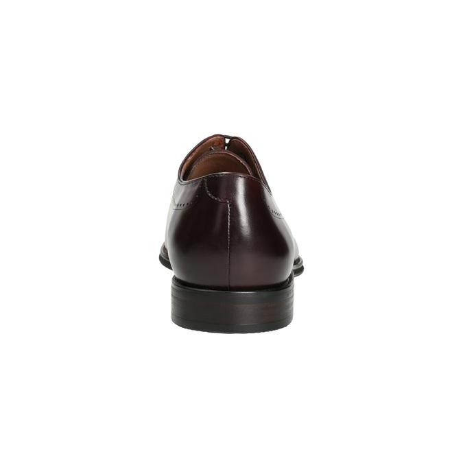 Pánské kožené Oxford polobotky bata, červená, 826-5683 - 17