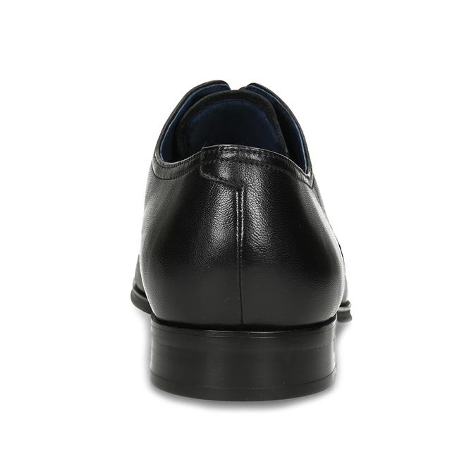 Pánské kožené černé Derby polobotky bata, černá, 824-6406 - 15