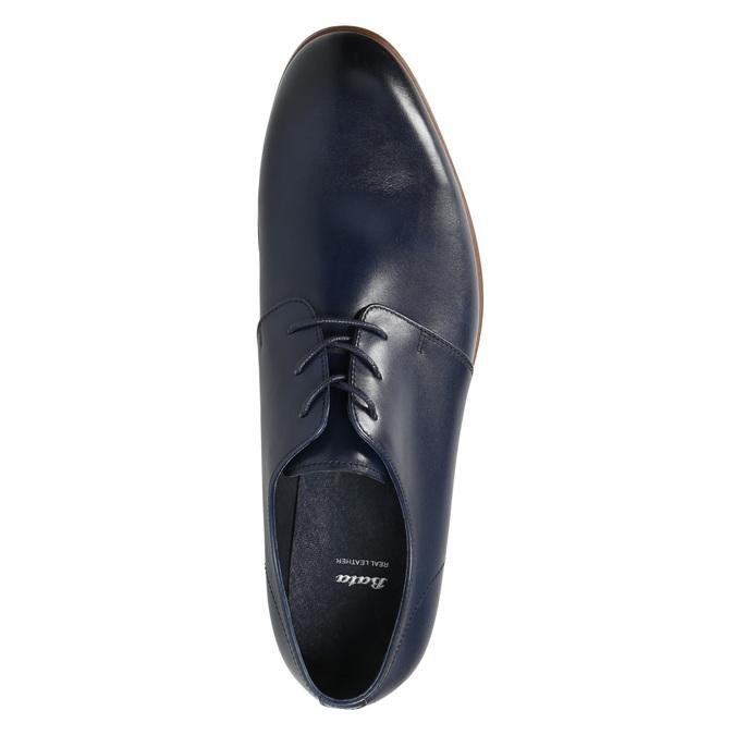 Modré kožené polobotky bata, modrá, 826-9680 - 26