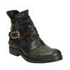 Kožená kotníčková obuv s přezkou a-s-98, zelená, 516-3092 - 13