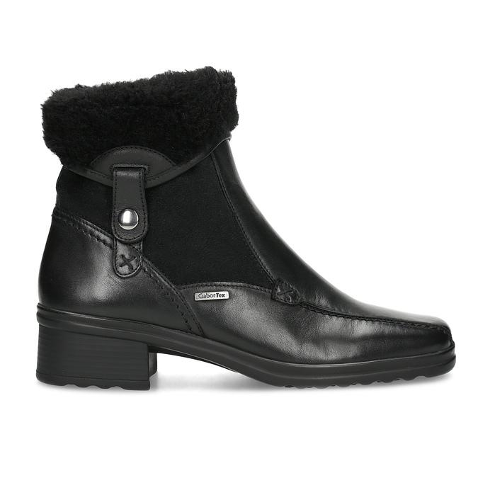 Dámská zimní obuv gabor, černá, 614-6127 - 19