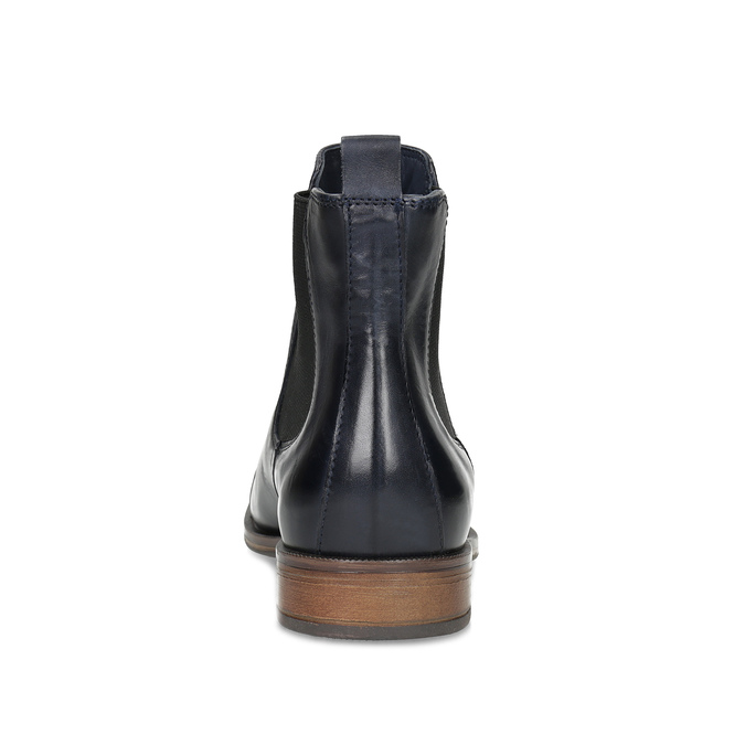 Dámská kožená Chelsea obuv bata, modrá, 594-9636 - 15