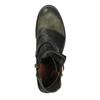 Kožená kotníčková obuv s přezkou a-s-98, zelená, 516-3092 - 15