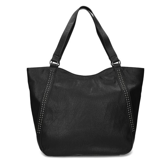Dámská černá kabelka se cvoky bata, černá, 961-6787 - 26