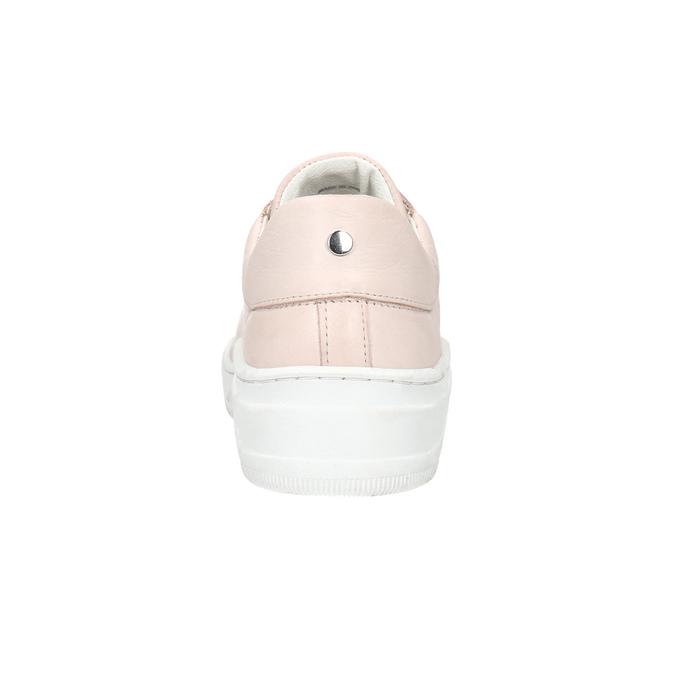 Dámské kožené tenisky bata, růžová, 526-5641 - 16