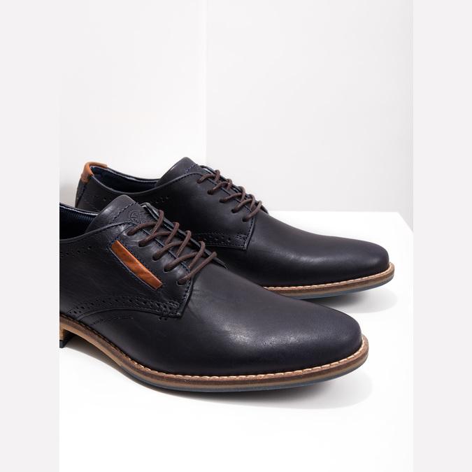 Neformální kožené polobotky bata, modrá, 826-9910 - 14