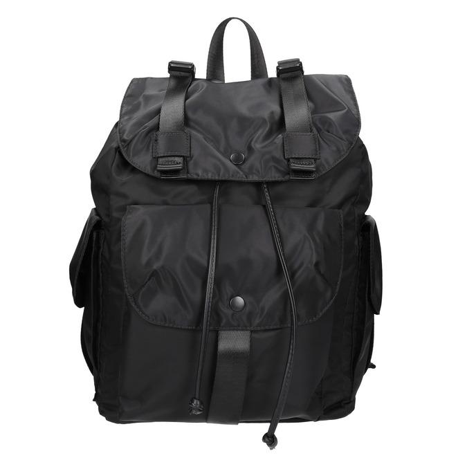 Černý batoh s kapsami bata, černá, 969-6163 - 26