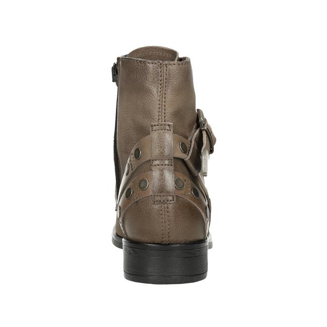 Kotníčková dámská obuv s přezkami bata, hnědá, 596-4661 - 16