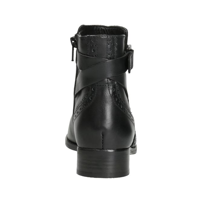 Kožená kotníčková obuv se zdobením clarks, černá, 614-6027 - 16