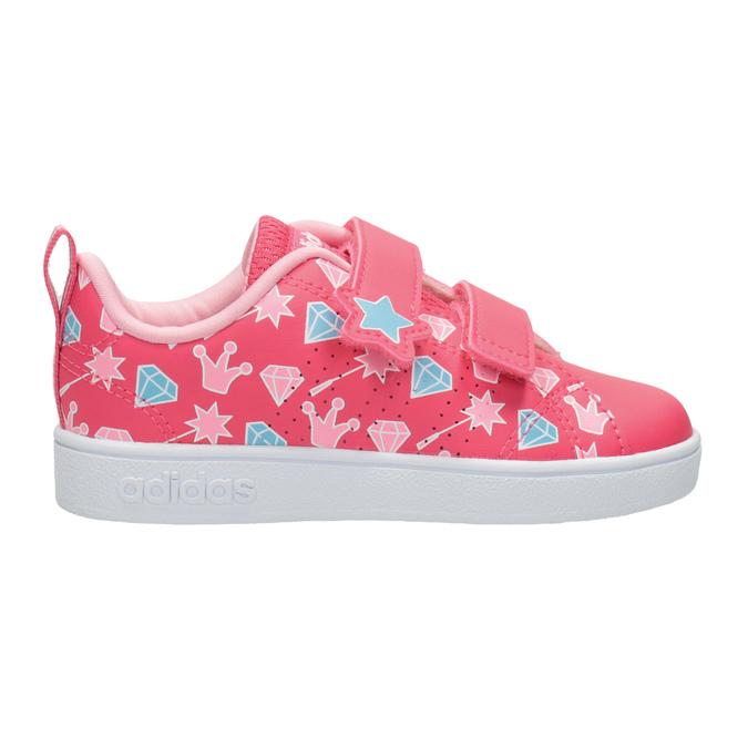 Dívčí tenisky s potiskem adidas, růžová, 101-5533 - 26