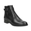 Kožená kotníčková obuv se zdobením clarks, černá, 614-6027 - 13
