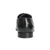 Černé kožené polobotky s prošitím bugatti, černá, 824-6008 - 16