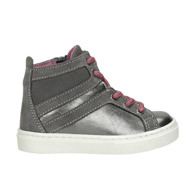 Kožená kotníčková obuv dětská bubblegummers, šedá, 123-2602 - 26
