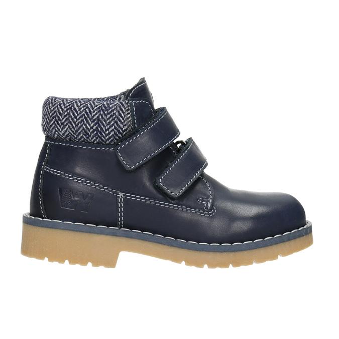 Dětská kožená kotníčková obuv weinbrenner-junior, modrá, 216-9200 - 26