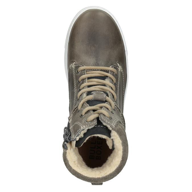 Dětská kotníčková obuv kožená bullboxer, šedá, 494-8023 - 15
