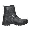 Kožená kotníčková obuv dětská bullboxer, černá, modrá, 496-9015 - 26