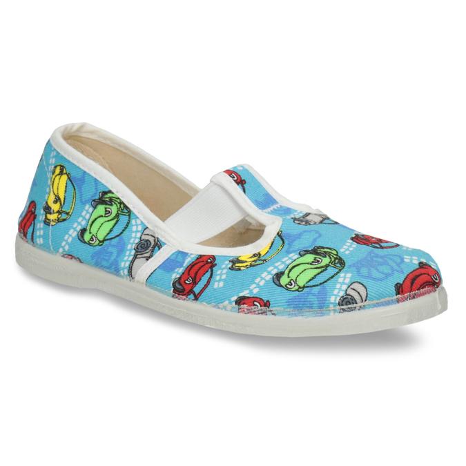 Dětská domácí obuv s autíčky bata, modrá, 279-9105 - 13