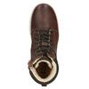 Dětská kotníčková obuv kožená bullboxer, hnědá, 494-4023 - 15
