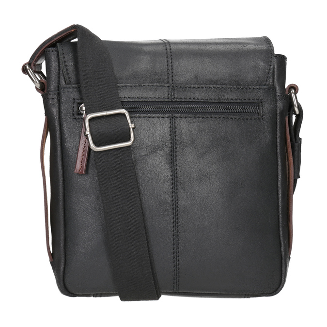 Pánská kožená Crossbody taška bugatti-bags, černá, 964-6027 - 16